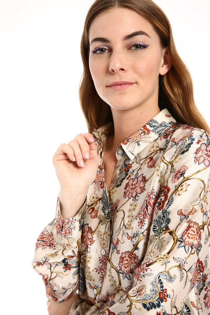 Hammered silk shirt Intrend