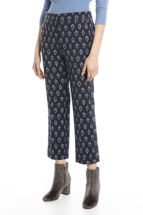 Straight leg jacquard trousers Intrend