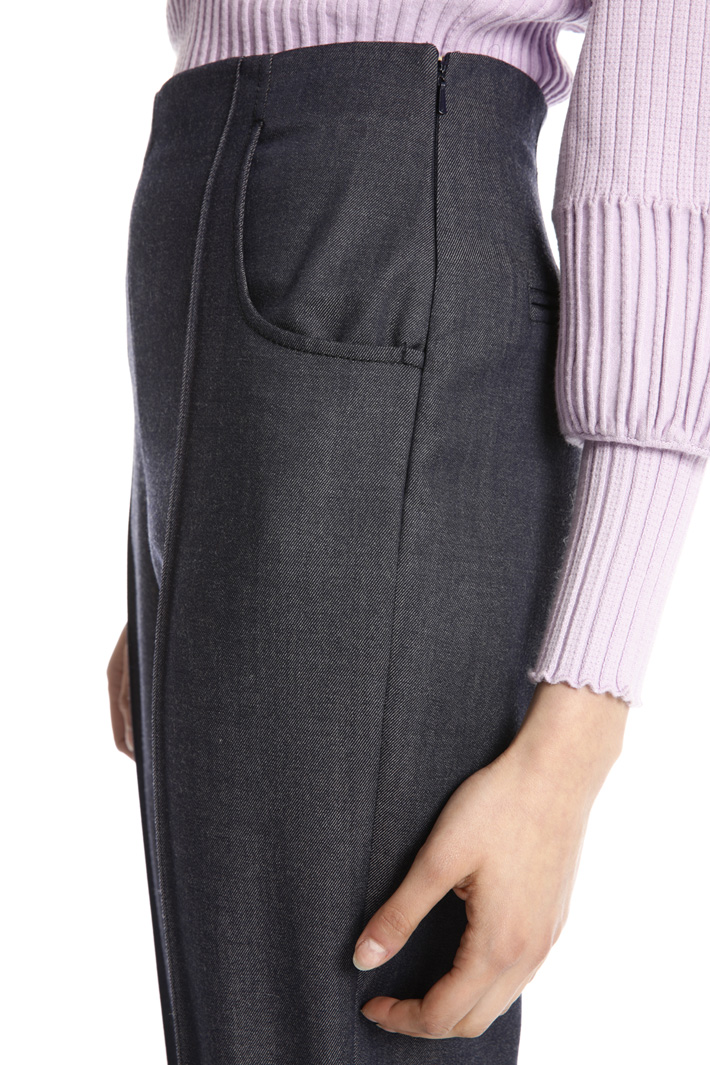 Pure wool carrot trousers Intrend