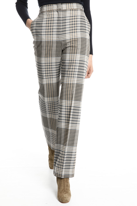 Straight check trousers  Intrend