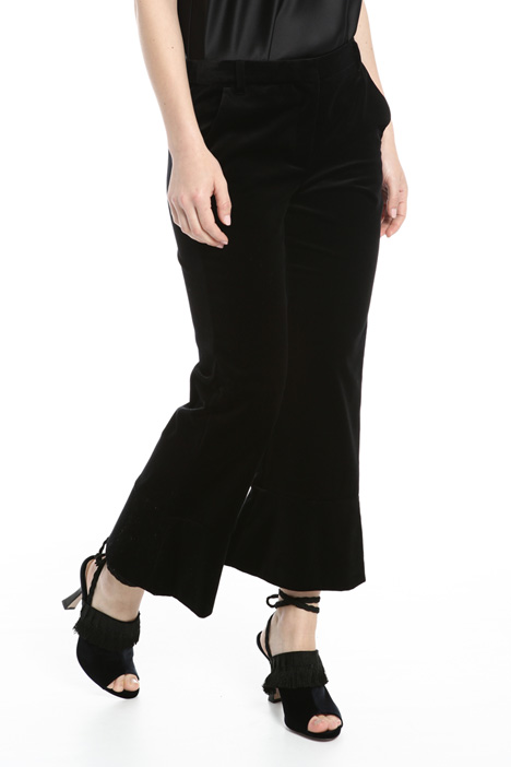 Flared velvet trousers Intrend