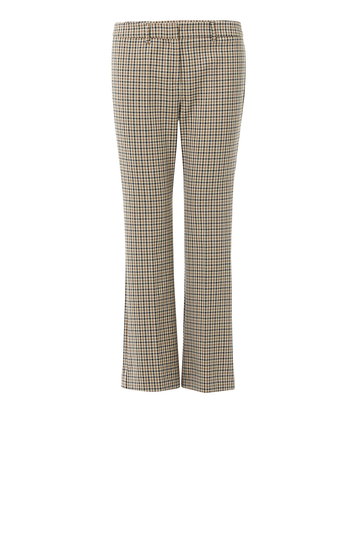 Gabardine flared trousers  Intrend
