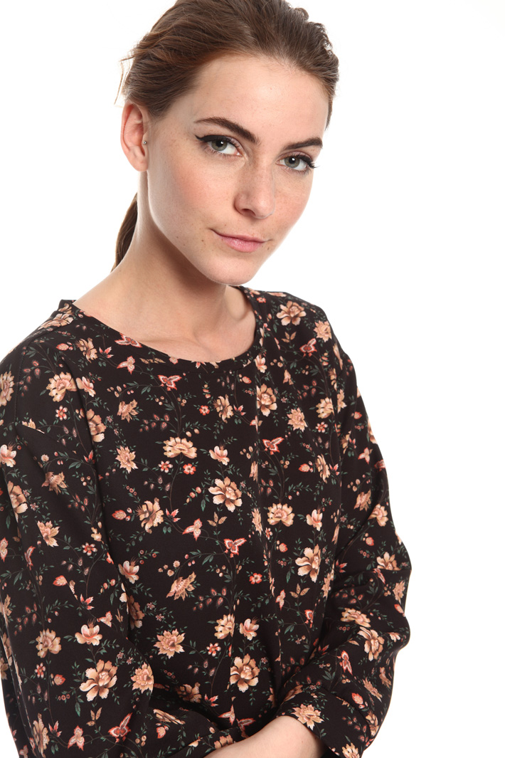 Printed cady blouse Intrend