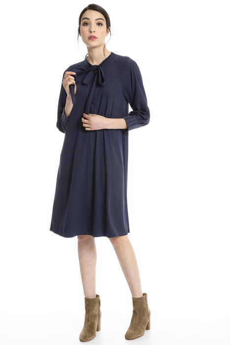 Scarf collar dress  Intrend