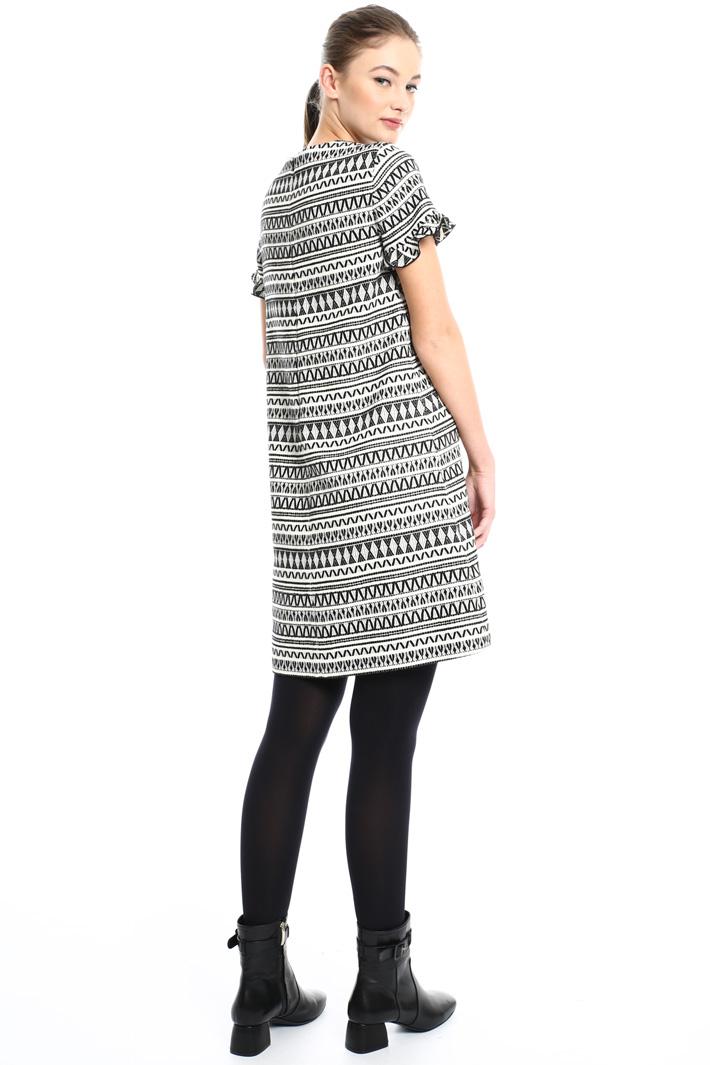 Jacquard wool dress Intrend