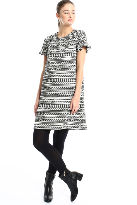 Jacquard wool dress Intrend