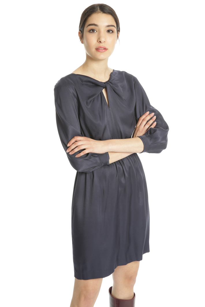 Viscose twill dress Intrend