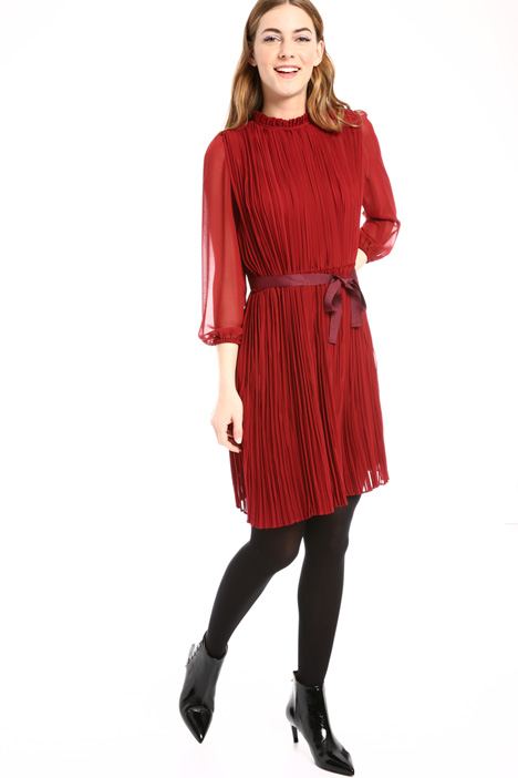 Pleated crepe dress Intrend