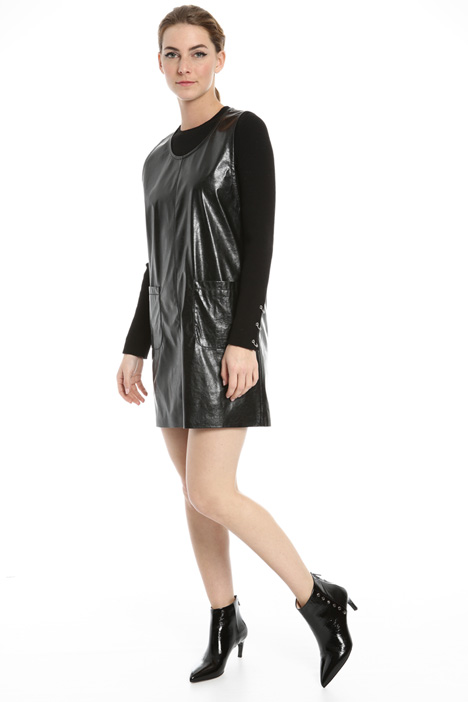 Patent leather-effect dress Intrend
