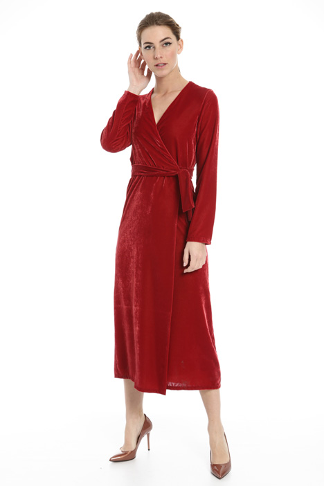 Wrap dress in velvet Intrend