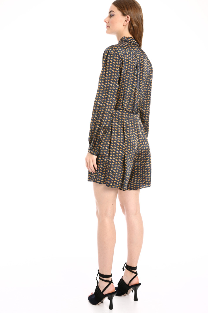 Printed twill short jumpsuit Intrend