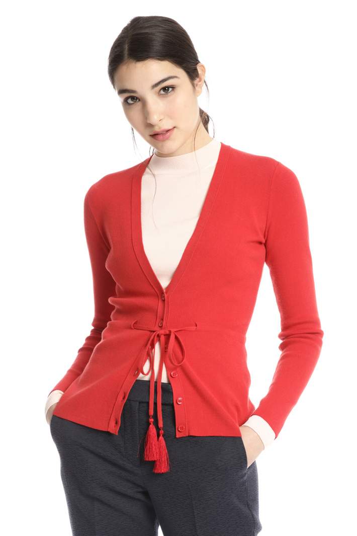 Knitted viscose cardigan Intrend