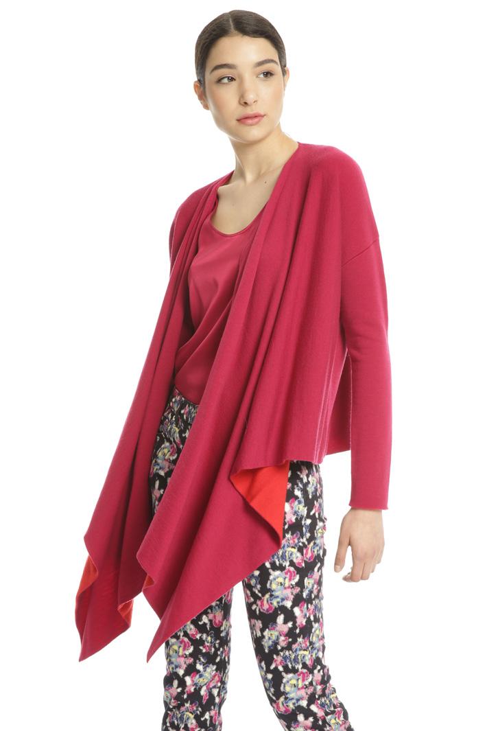 Asymmetrical wool cardigan Intrend