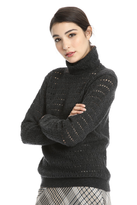 Mesh turtleneck sweater Intrend