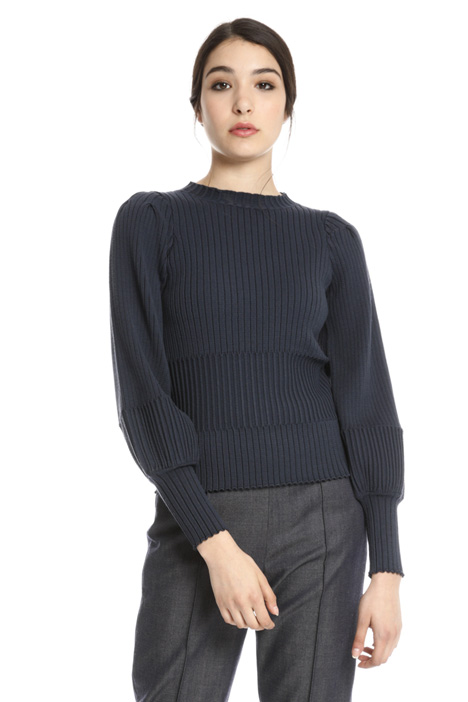 Ribbed viscose sweater Intrend