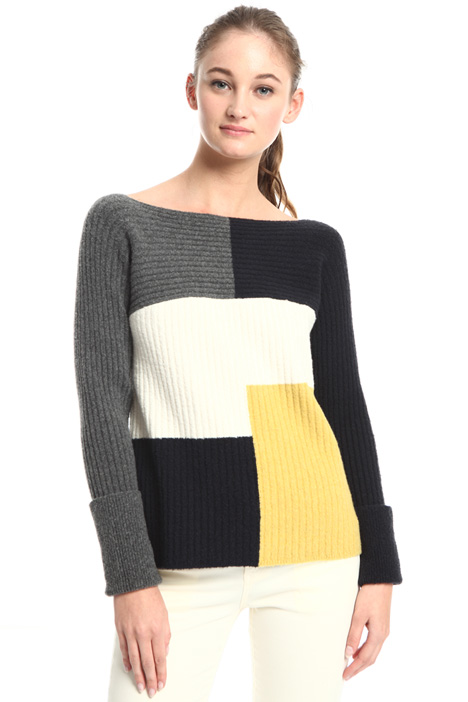 Ribbed bouclé sweater Intrend
