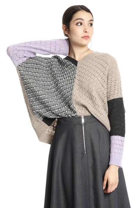 Maglia a kimono in lana Intrend