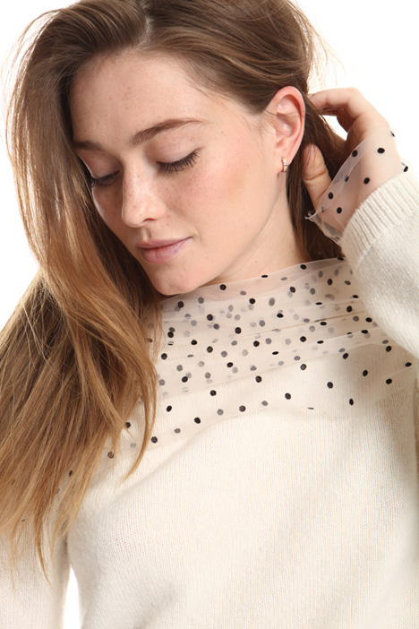 Tulle detail sweater Intrend