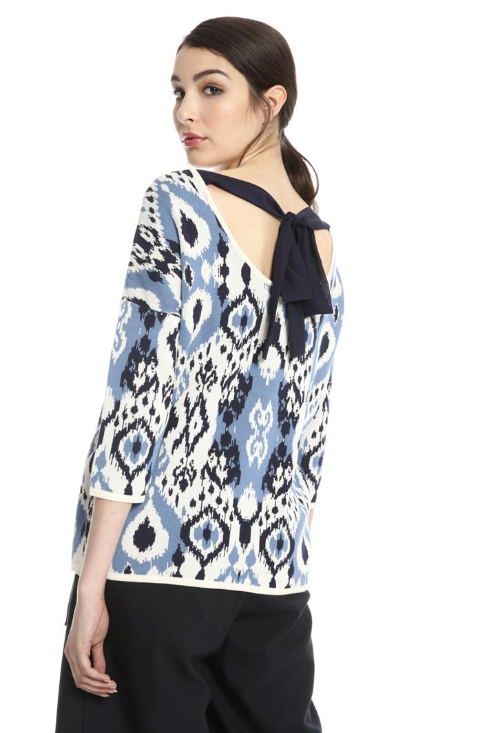 Cotton jacquard sweater Intrend