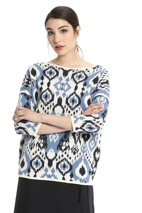 Cotton jacquard sweater Intrend