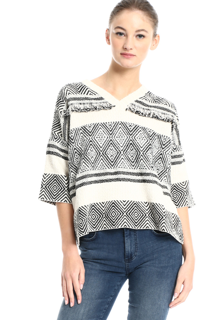 Jacquard cotton sweater Intrend