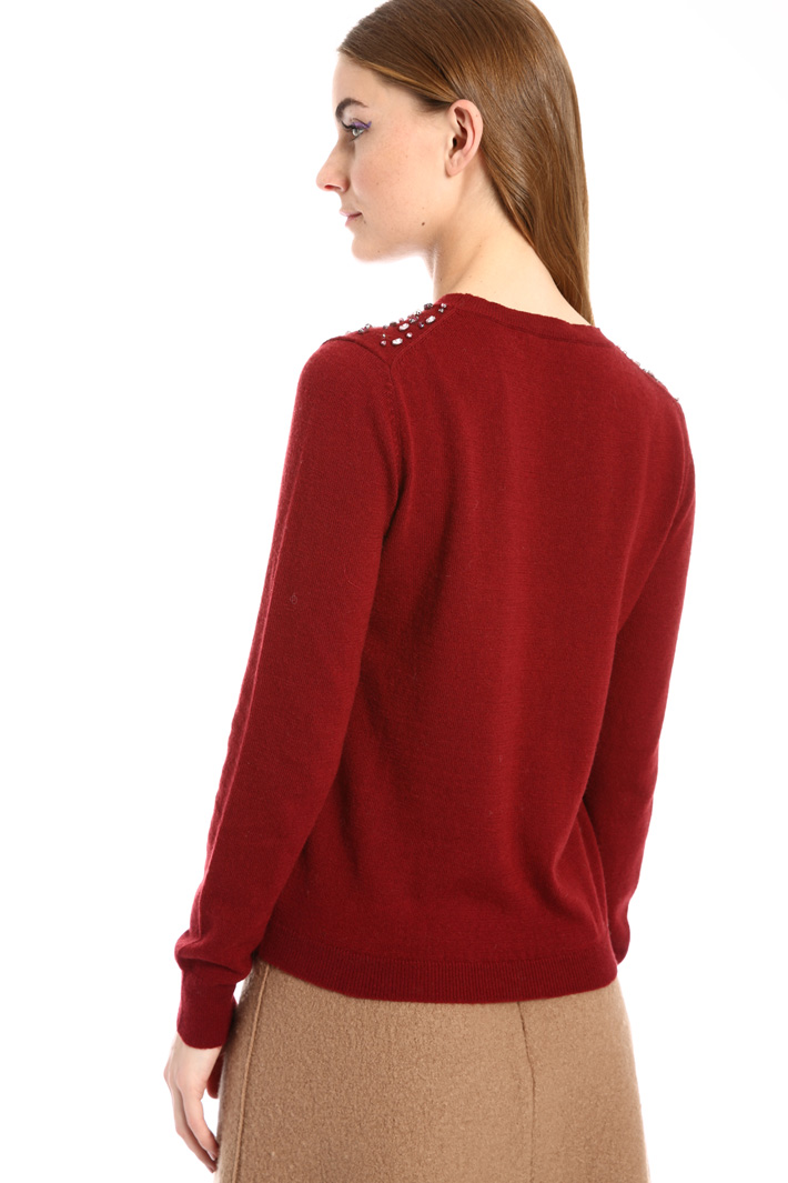 Jewel embroidered sweater Intrend