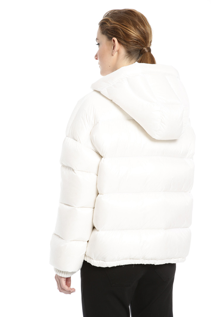 Glossy canvas down jacket Intrend