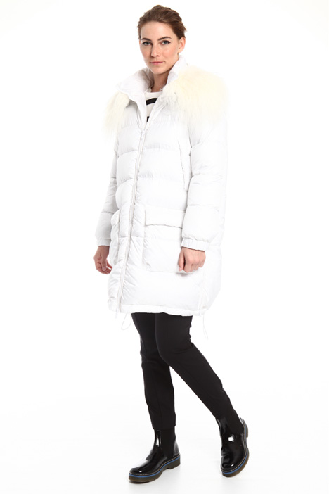 Fur trimmed down coat Intrend