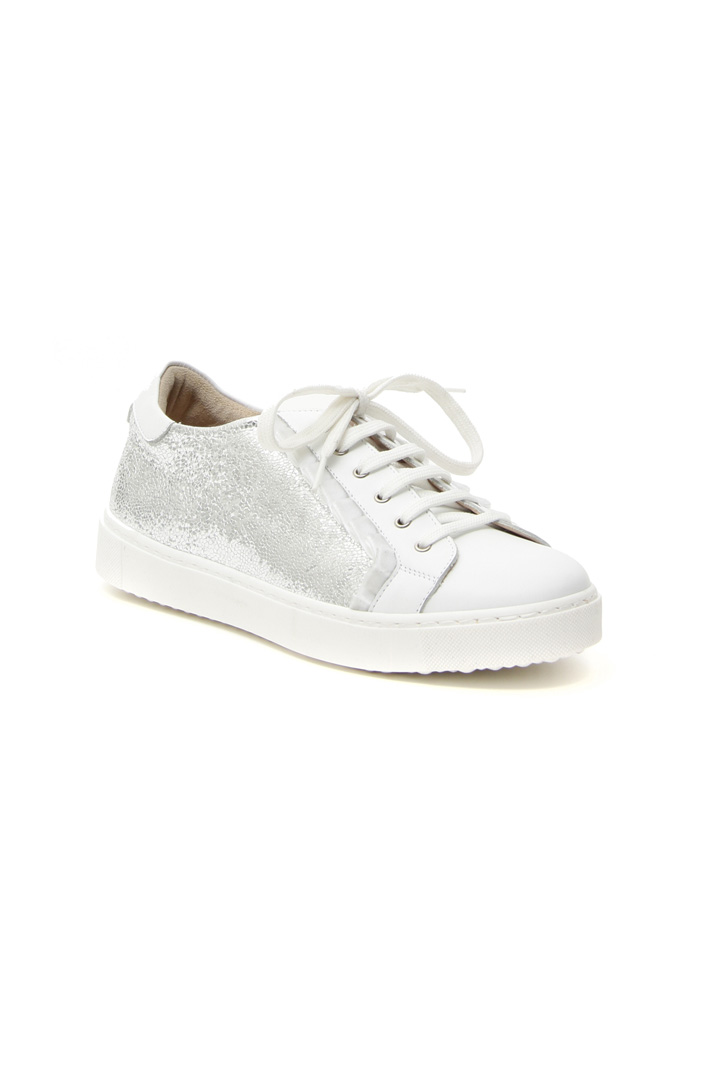 Craquelé leather sneakers Intrend