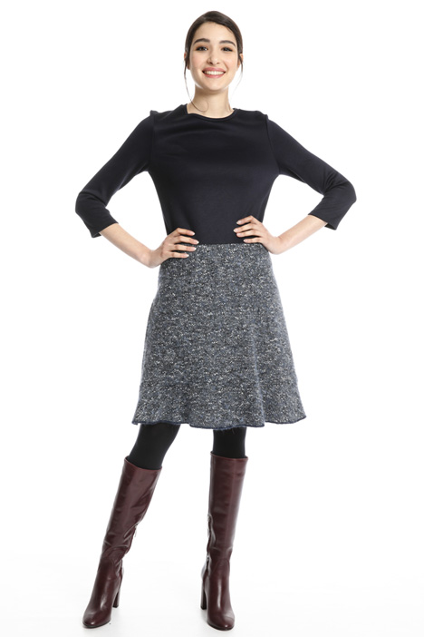 Dress with tweed skirt Intrend