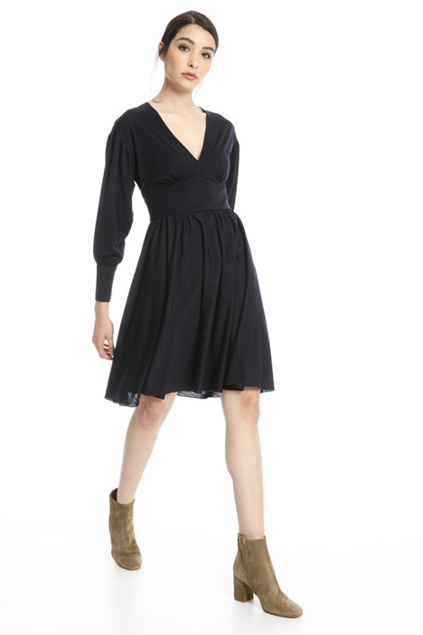 Wool blend jersey dress Intrend