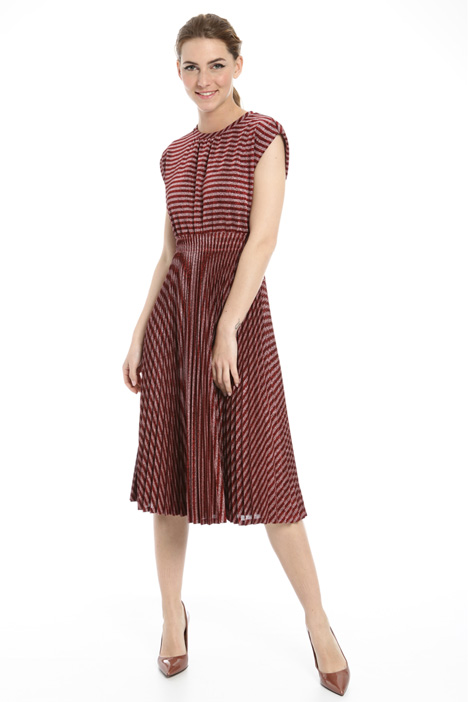 Pleated lurex dress Intrend