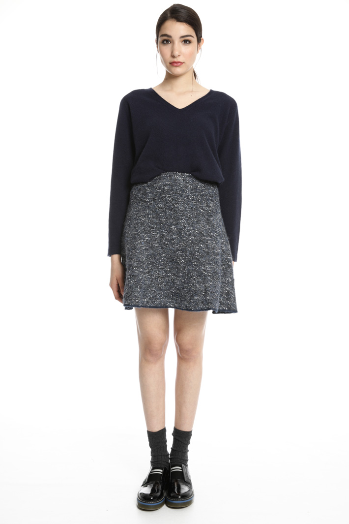 Tweed-effect skirt Intrend