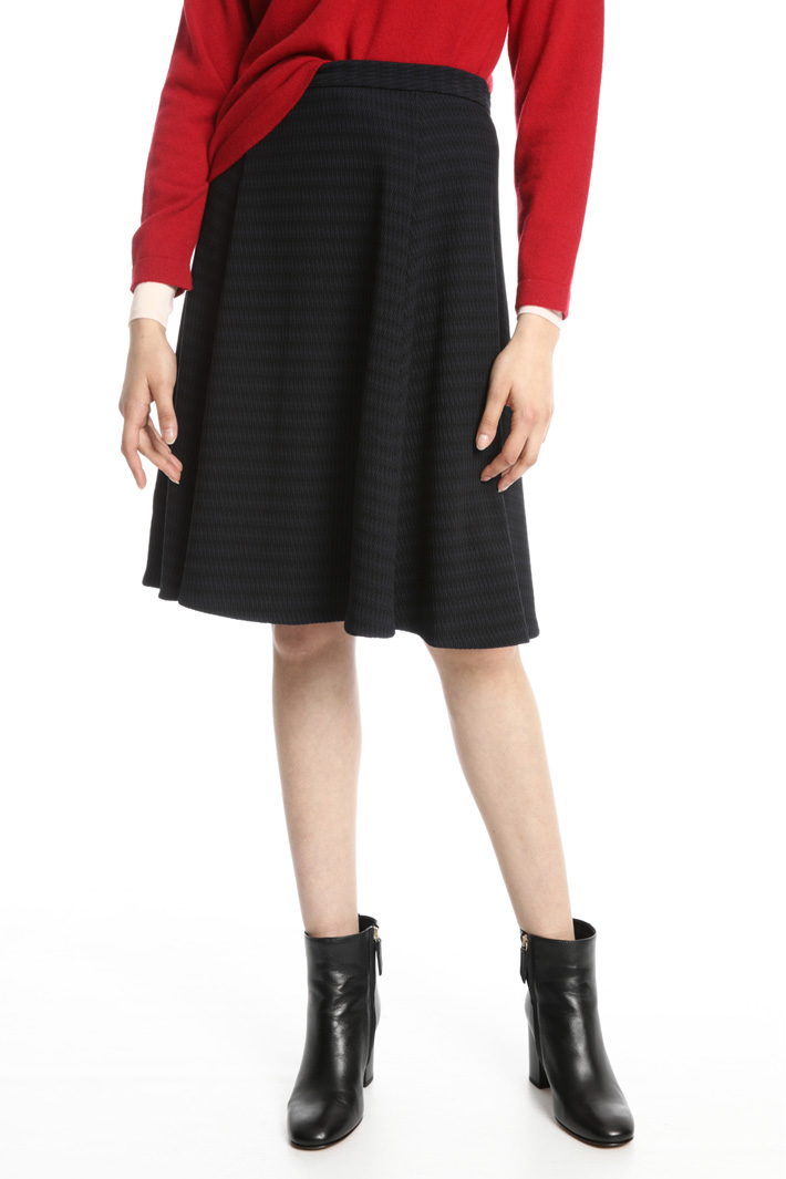 Flared jersey skirt Intrend