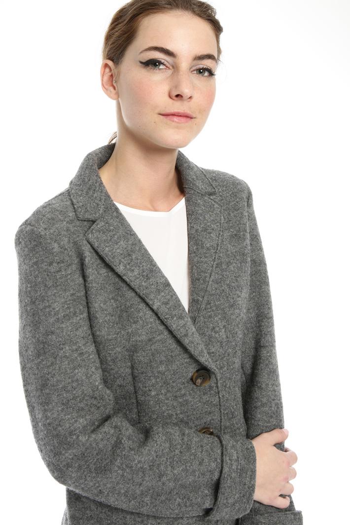 Wool jersey short coat Intrend