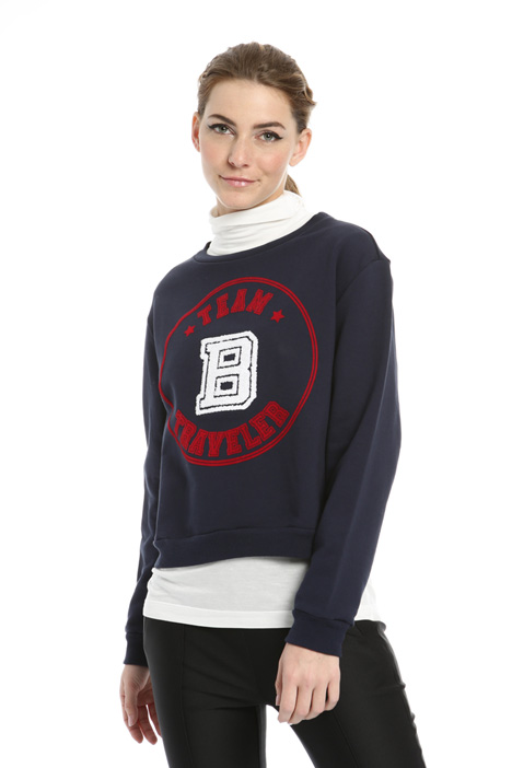 Embroidered printed sweatshirt Intrend