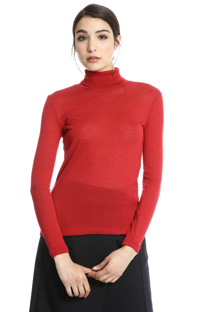 Slik jersey turtleneck sweater Intrend