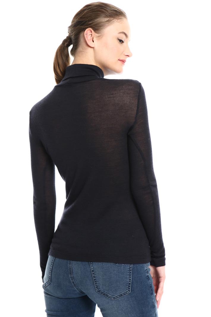 Slik jersey turtleneck sweater Intrend