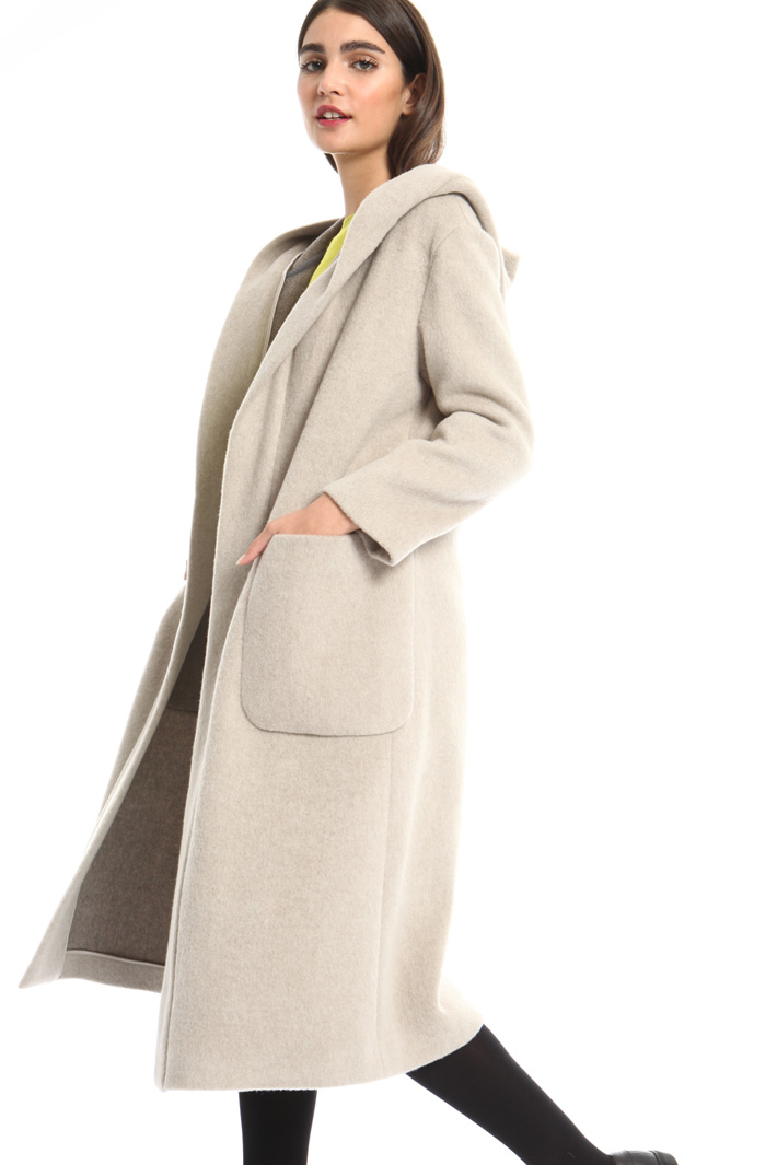 Hooded long coat Intrend