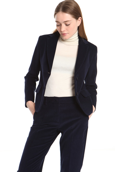 Ribbed velvet blazer Intrend