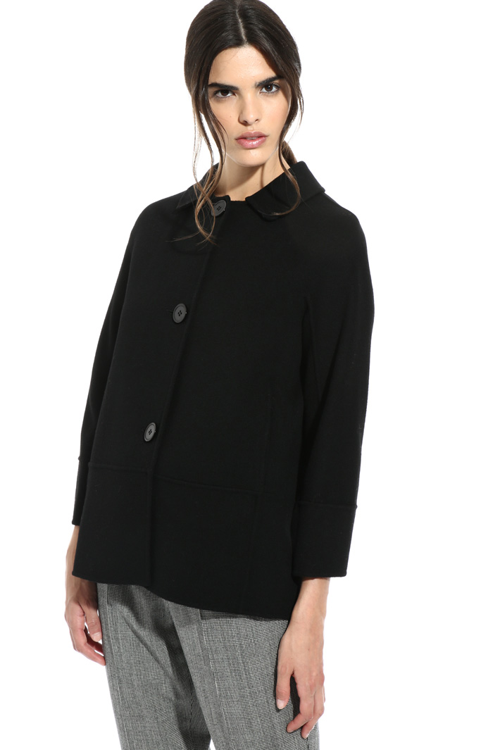 Short jacket in wool drap Intrend