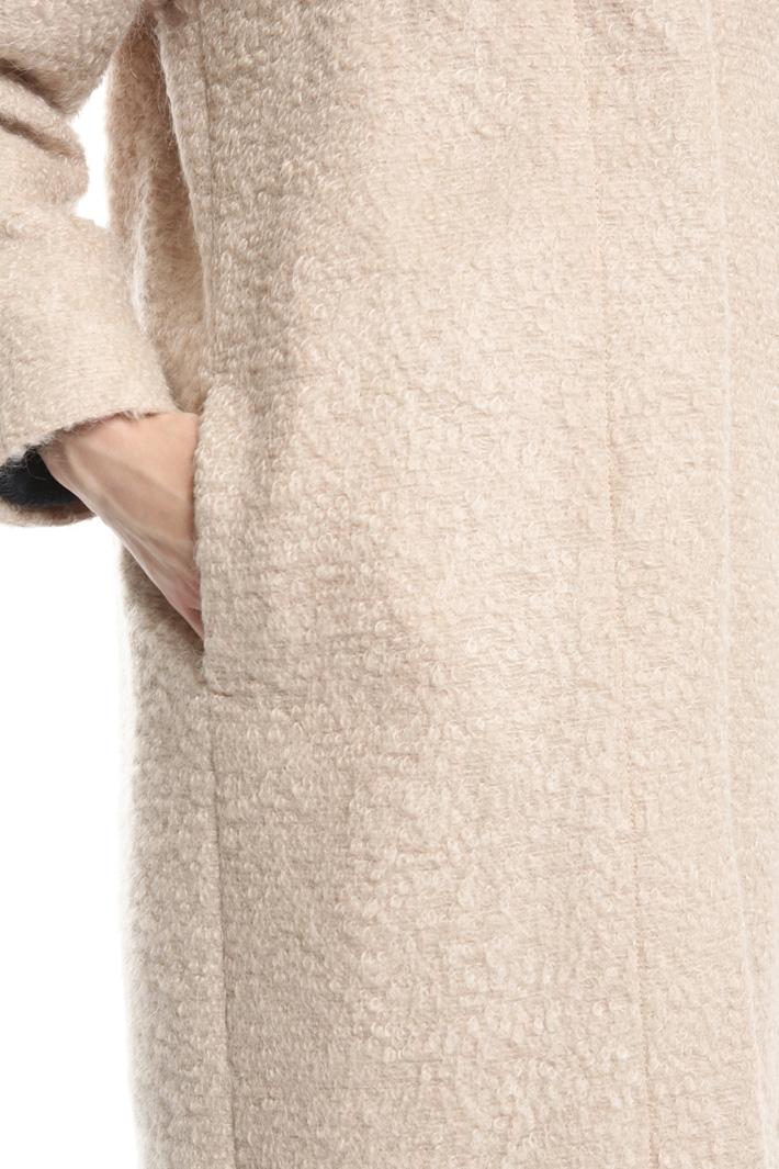 Bouclé wool coat Intrend