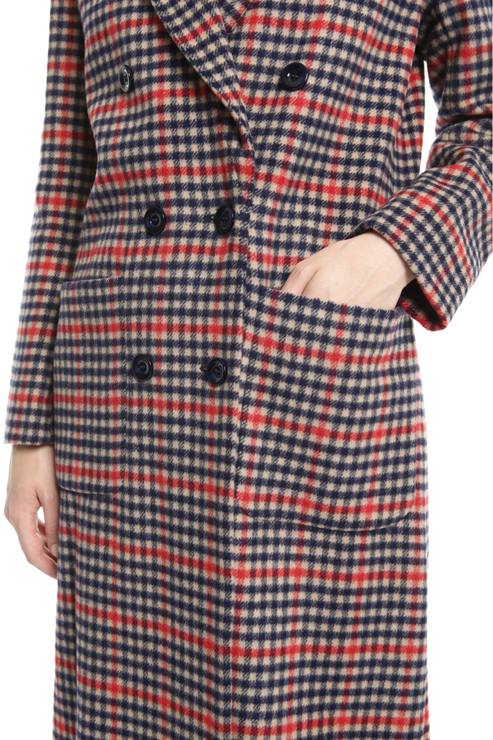 Double-breasted checked coat Intrend
