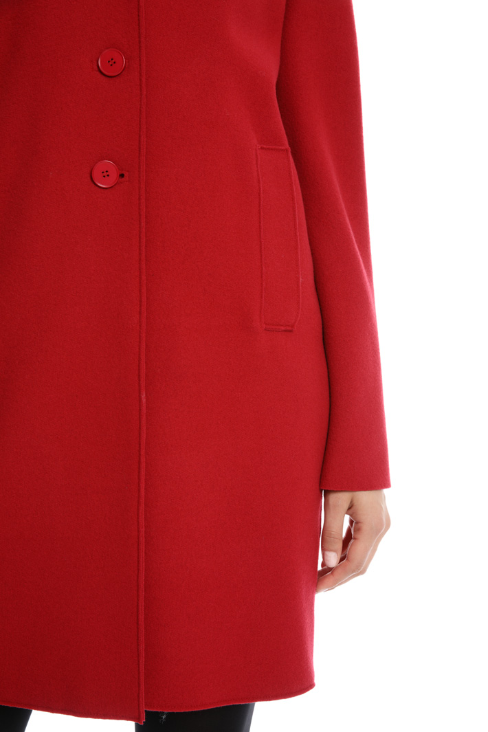 Pure wool crepe coat Intrend