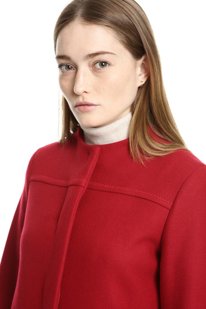 Crew neck wool coat Intrend