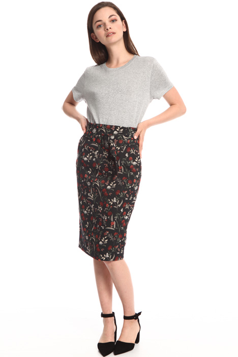 Floral jacquard skirt Intrend
