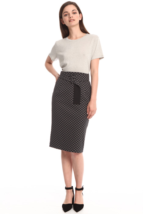 Sheath jacquard skirt Intrend
