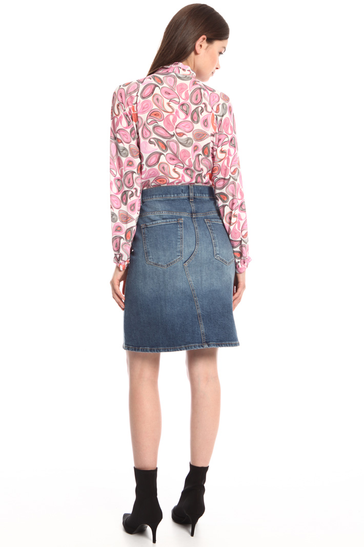 Stretch denim skirt Intrend