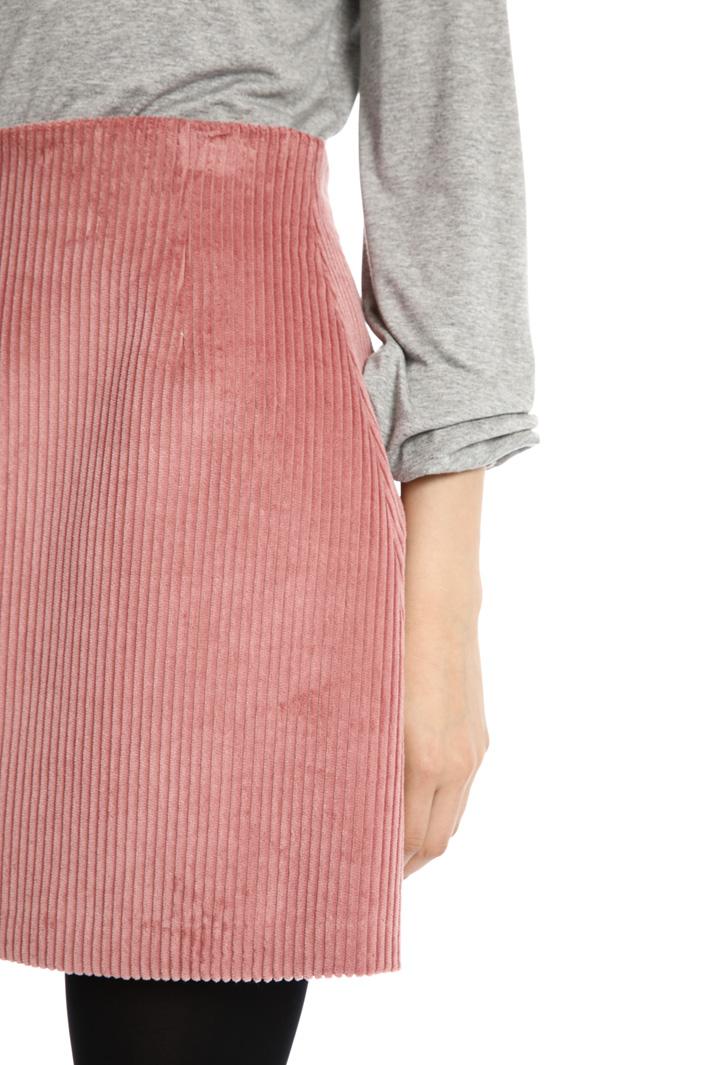 Velvet miniskirt Intrend