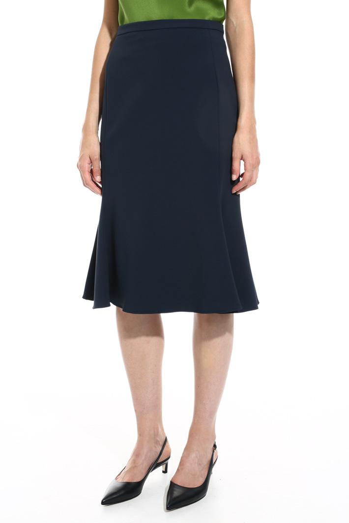 Flared knee-length skirt Intrend